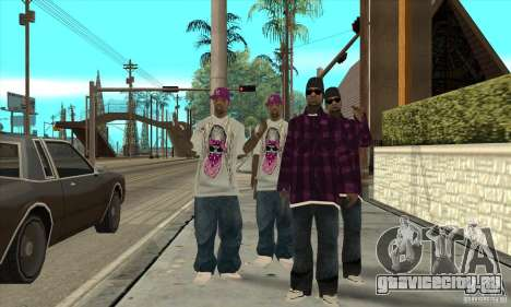 Замена всех скинов East Side Ballas для GTA San Andreas второй скриншот