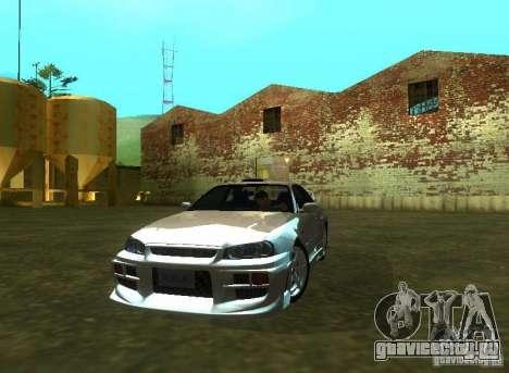 Nissan Skyline GTR-34 для GTA San Andreas вид справа