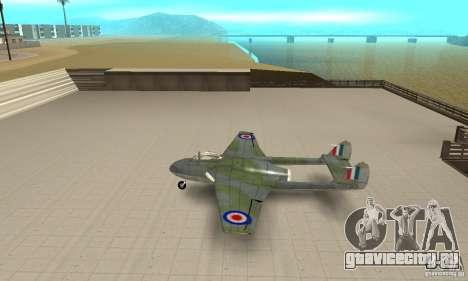 De-Havilland-Vampire ver 2.0 для GTA San Andreas вид слева