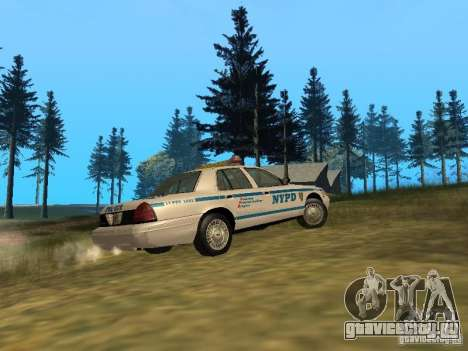 Ford Crown Victoria NYPD Police для GTA San Andreas вид сзади
