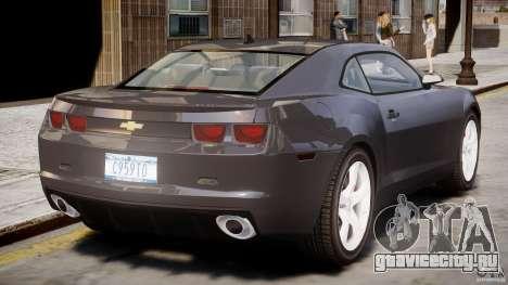 Chevrolet Camaro SS 2009 v2.0 для GTA 4 вид снизу