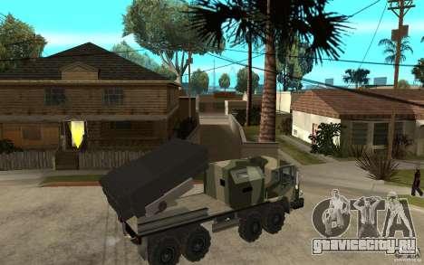 Missile Launcher Truck для GTA San Andreas вид справа
