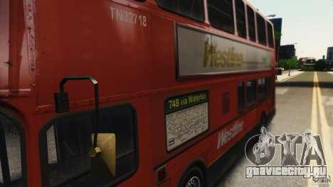 London City Bus для GTA 4 вид сзади