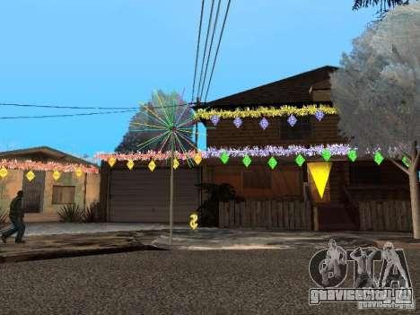 Новый Год на Гроув Стрит для GTA San Andreas второй скриншот