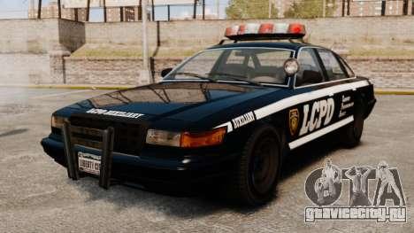 Новый Police Cruiser для GTA 4 вид сзади