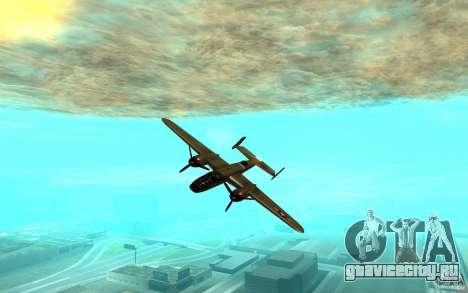 B-25 Mitchell для GTA San Andreas вид сзади слева