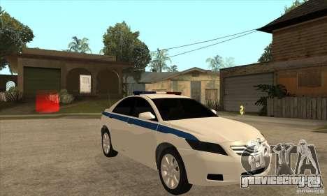 Toyota Camry 2010 SE Police RUS для GTA San Andreas вид сзади