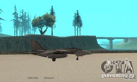 F14W Super Weirdest Tomcat Skin 1 для GTA San Andreas вид слева