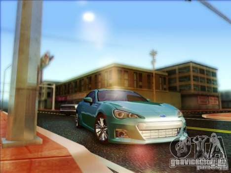 Subaru BRZ S 2012 для GTA San Andreas вид сзади