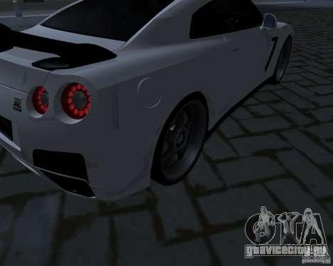 Nissan GTR-35 Spec-V для GTA San Andreas вид сбоку