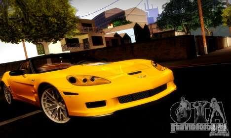 Chevrolet Corvette ZR-1 для GTA San Andreas вид сбоку