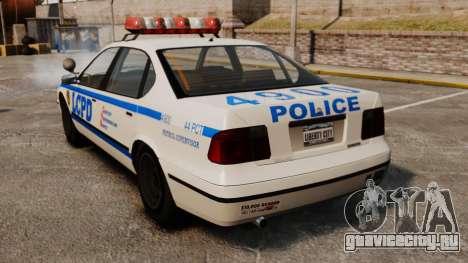 Новый Police Patrol для GTA 4 вид сзади слева