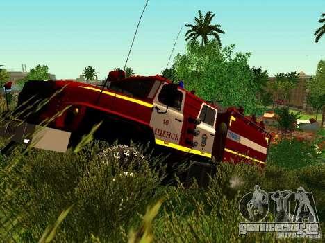 Урал 5557-40 пожарная для GTA San Andreas вид слева