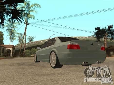BMW E38 M7 для GTA San Andreas вид сзади слева