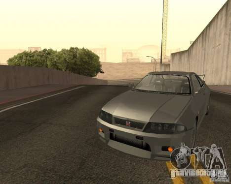 Nissan Skyline GT-R R-33 для GTA San Andreas вид снизу