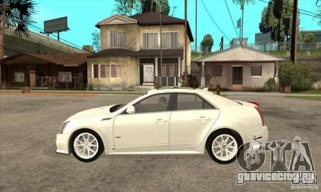 Cadillac CTS-V 2009 v2.0 для GTA San Andreas вид слева