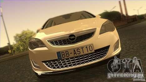 Opel Astra 2010 для GTA San Andreas вид сверху