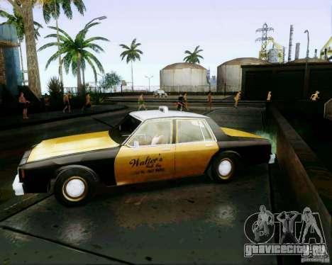 Chevrolet Impala 1986 Taxi Cab для GTA San Andreas вид сзади слева