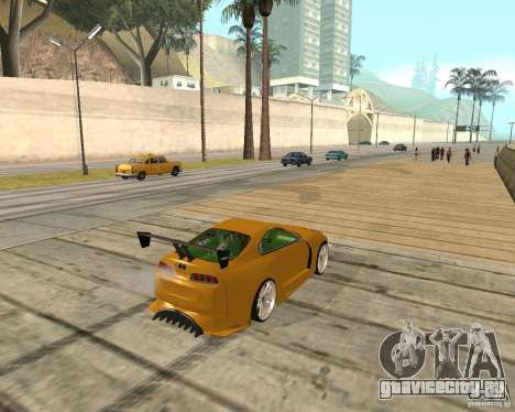 Toyota Supra TwinTurbo для GTA San Andreas вид сбоку