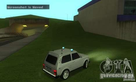 ВАЗ 21213 НИВА FBI для GTA San Andreas вид справа