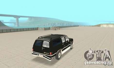 Chevrolet Suburban FBI 1986 для GTA San Andreas вид сверху