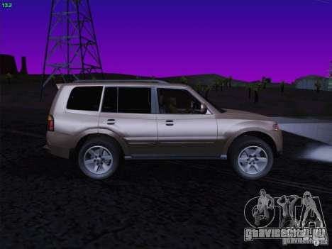 Mitsubishi Montero для GTA San Andreas вид справа