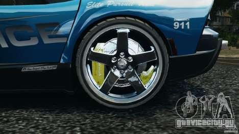 Dodge Viper SRT-10 ACR ELITE POLICE [ELS] для GTA 4 вид сзади