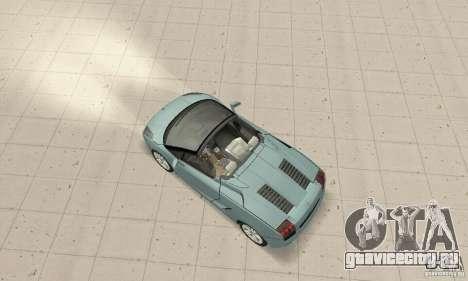 Lamborghini Gallardo Spyder для GTA San Andreas вид сзади слева