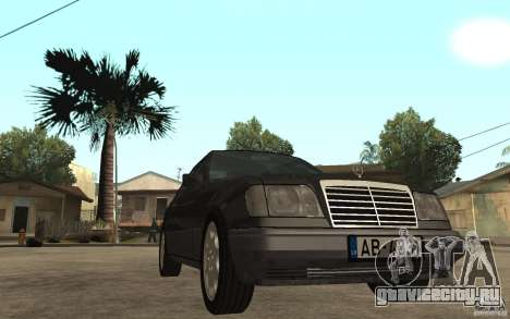 Mercedes-Benz 320CE C124 для GTA San Andreas вид сзади