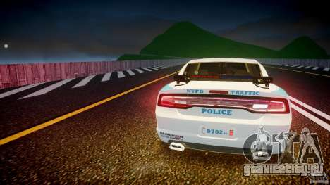 Dodge Charger NYPD 2012 [ELS] для GTA 4 двигатель