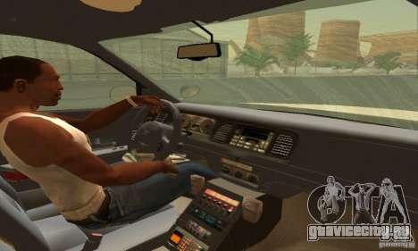 Ford Crown Victoria South Carolina Police для GTA San Andreas вид сзади слева