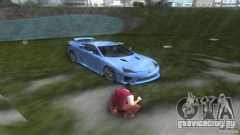 Lexus LFA для GTA Vice City вид сзади