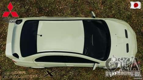 Mitsubishi Lancer Evolution X 2007 для GTA 4 вид справа