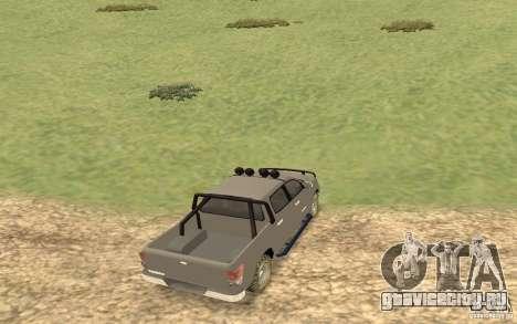 Toyota Tundra 4x4 для GTA San Andreas вид сзади слева