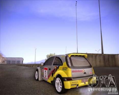 Opel Corsa Super 1600 для GTA San Andreas вид сзади