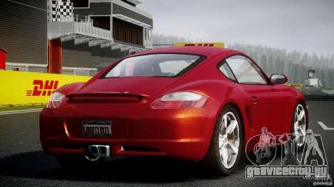 Porsche Cayman S v2 для GTA 4 вид изнутри