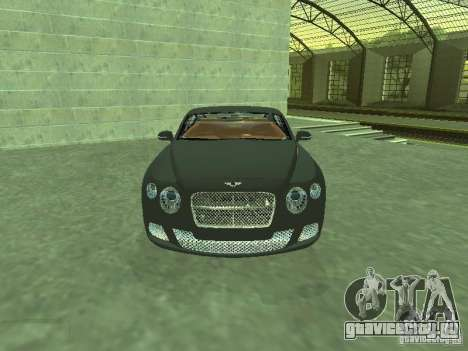 Bentley Continental GT 2010 V1.0 для GTA San Andreas вид сзади