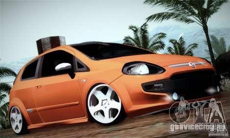 Fiat Punto Evo 2010 Edit для GTA San Andreas вид сзади слева
