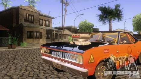 Plymouth Duster 440 для GTA San Andreas вид снизу