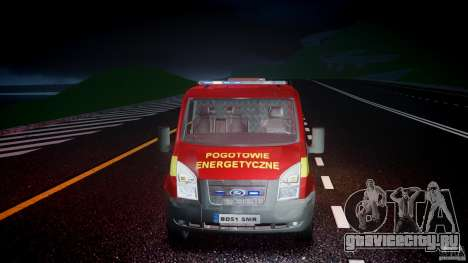 Ford Transit Polski uslugi elektryczne [ELS] для GTA 4 вид сбоку