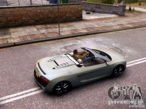 Audi R8 Spyder 5.2 FSI quattro V4 EPM для GTA 4 вид изнутри