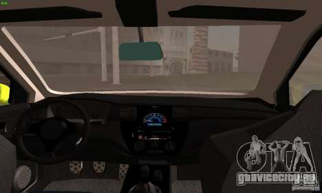 Mitsubishi Lancer Evolution 8 для GTA San Andreas вид сзади