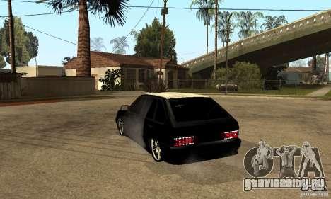 Lada ВАЗ 2114 LT для GTA San Andreas вид сзади слева