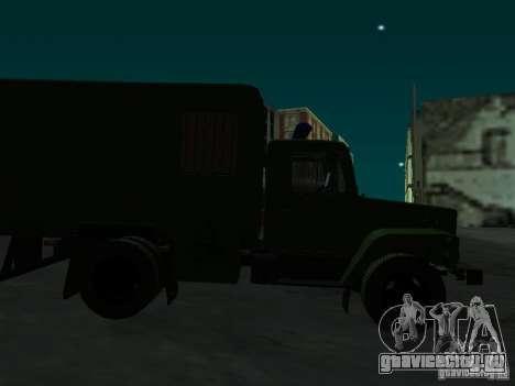 ГАЗ 3309 Автозак для GTA San Andreas вид изнутри