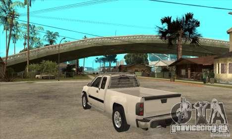 GMC Sierra для GTA San Andreas вид сзади слева