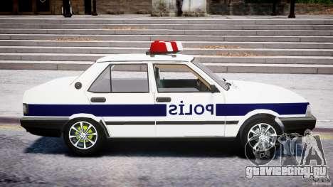 Tofas Sahin Turkish Police v1.0 для GTA 4 вид сзади