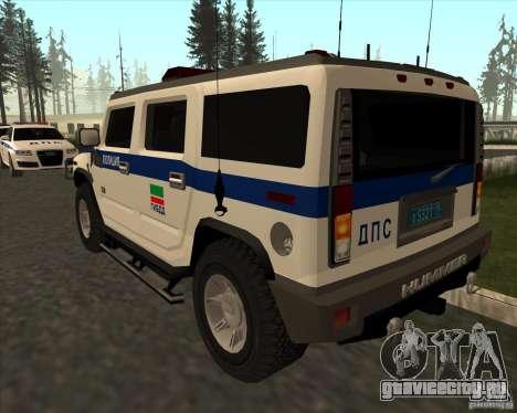 Hummer H2 ДПС для GTA San Andreas вид сзади слева