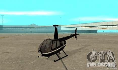 Robinson R44 Raven II NC 1.0 Чёрный для GTA San Andreas вид слева