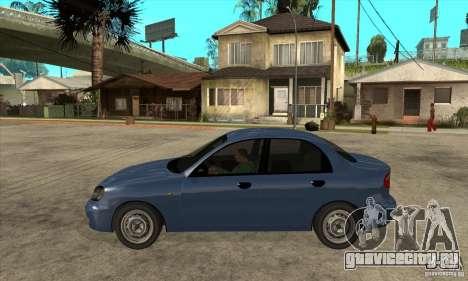 Daewoo Lanos v2 для GTA San Andreas вид слева