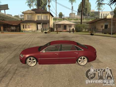 Audi A8 Switze для GTA San Andreas вид слева